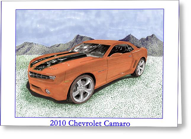 Art Of Muscle Greeting Cards - 2010 Chevrolet Camaro Greeting Card by Jack Pumphrey