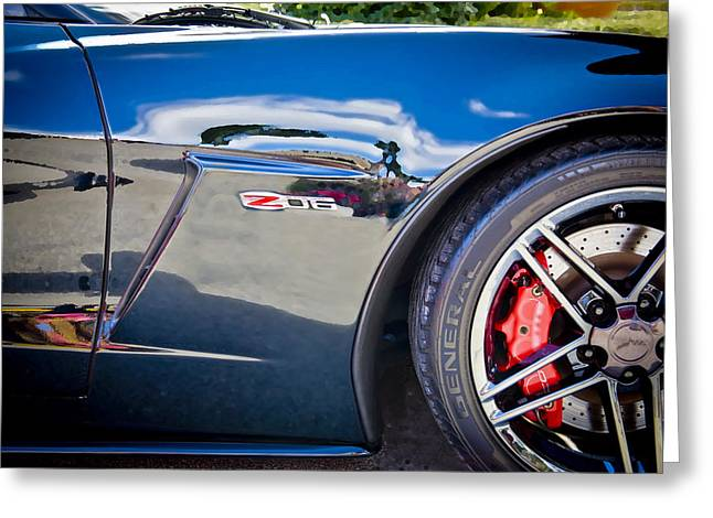 Limited Edition Photographs Greeting Cards - 2010 Chevrolet Corvette Z06 Greeting Card by Rich Franco