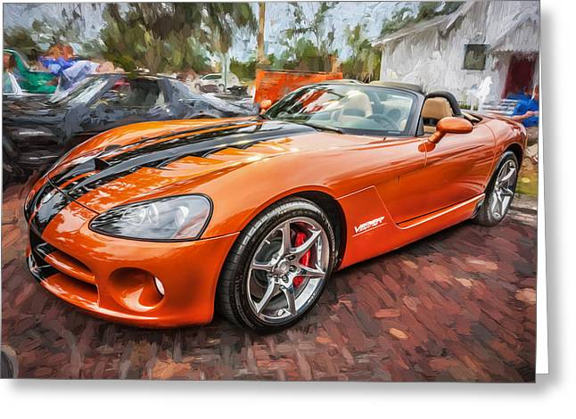 (c) 2010 Photographs Greeting Cards - 2010 Dodge Viper SRT 10 Painted   Greeting Card by Rich Franco