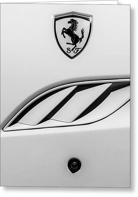 2010 Greeting Cards - 2010 Ferrari California Side Emblem Greeting Card by Jill Reger