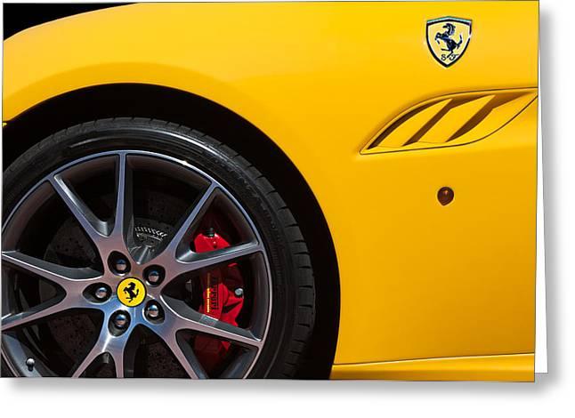 2010 Greeting Cards - 2010 Ferrari California Wheel Emblem Greeting Card by Jill Reger