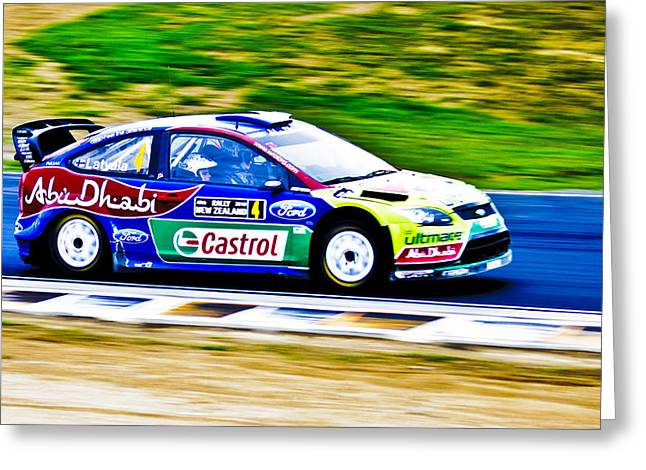 2010 Wrc Greeting Cards - 2010 Ford Focus WRC Greeting Card by motography aka Phil Clark