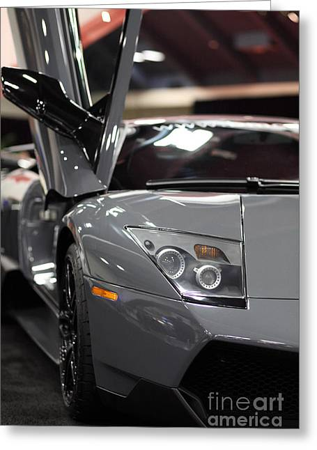 Italian Sportscar Greeting Cards - 2010 Lamborghini LP670-4 Super Veloce - 5D20190 Greeting Card by Wingsdomain Art and Photography