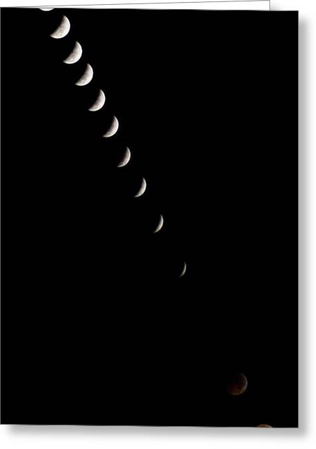 Morphing Photographs Greeting Cards - 2010 Lunar Eclipse Greeting Card by Benjamin Reed