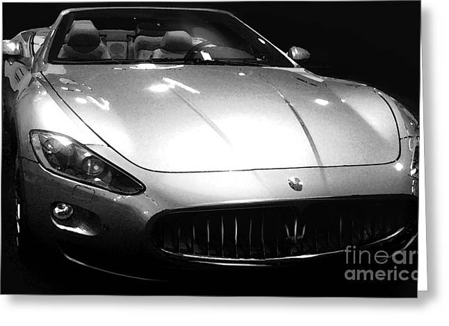 2010 Maserati Grancabrio Greeting Card by Uli Gonzalez