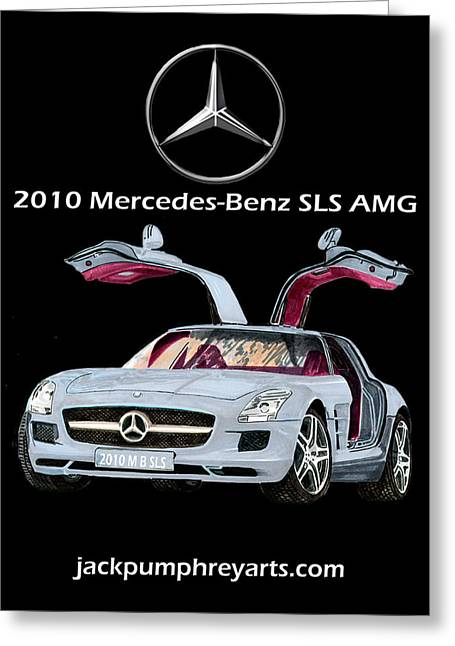 The Houses Mixed Media Greeting Cards - 2010 Mercedes Benz S L S    A M G Greeting Card by Jack Pumphrey