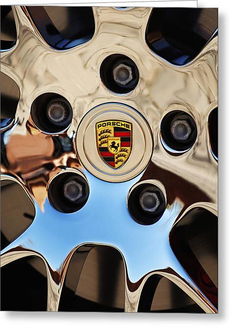 Car Details Greeting Cards - 2010 Porsche Panamera Turbo Wheel Greeting Card by Jill Reger