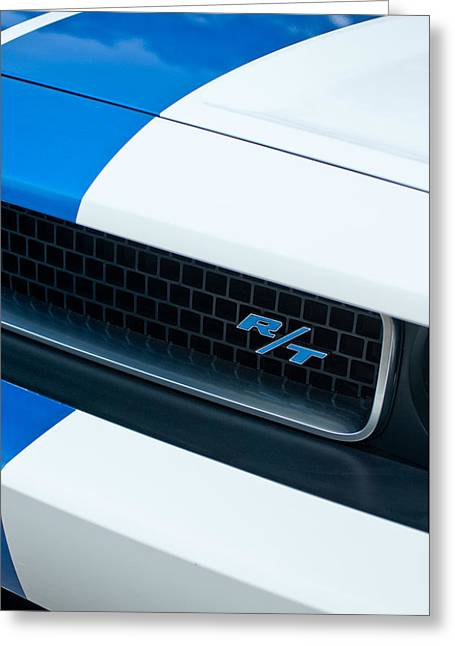 2011 Greeting Cards - 2011 Dodge Challenger RT Grille Emblem Greeting Card by Jill Reger