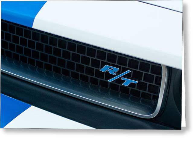 2011 Dodge Challenger RT Grille Emblem Greeting Card by Jill Reger