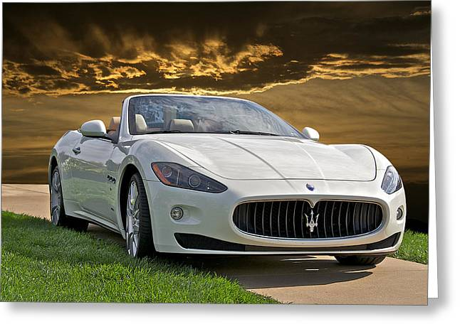 High-performance Luxury Car Greeting Cards - 2011 Maserati Gran Turismo Convertible II Greeting Card by Dave Koontz