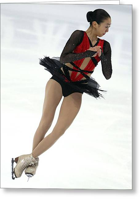Figure Skater Greeting Cards - 2011 World Figure Skating Championships Greeting Card by Science Photo Library