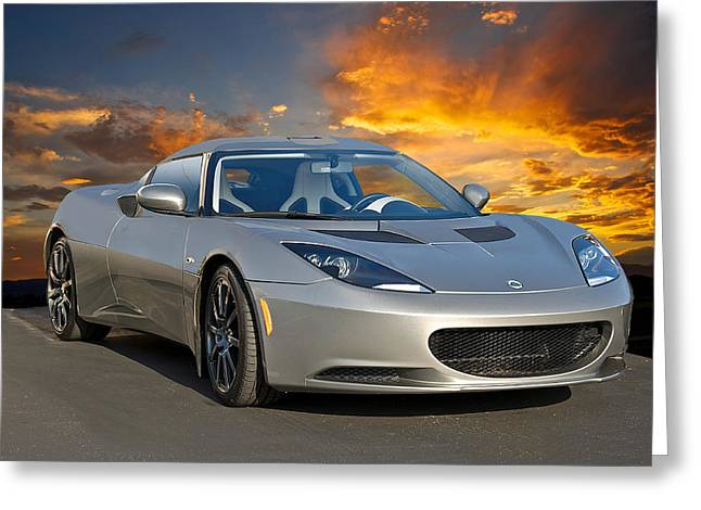 Rally Greeting Cards - 2012 Lotus Evora I Greeting Card by Dave Koontz