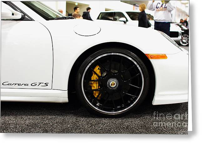 Import Car Greeting Cards - 2012 Porsche 911 Carrera GT . 7D9630 Greeting Card by Wingsdomain Art and Photography