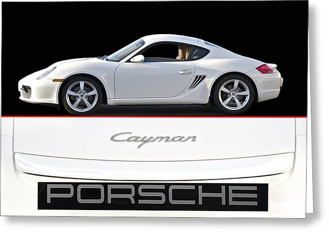 High-performance Luxury Car Greeting Cards - 2012 Porsche Cayman R Greeting Card by Dave Koontz