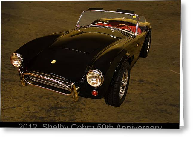 2012 Digital Art Greeting Cards - 2012 Shelby Cobra 50th Anniversary  Greeting Card by Chris Flees