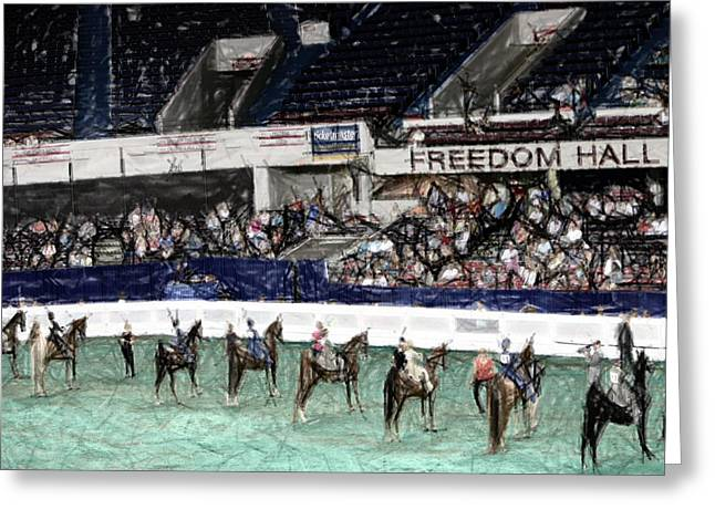 States Tapestries - Textiles Greeting Cards - 2013-a World Championship Horse Show - Louisville KY Greeting Card by Thia Stover