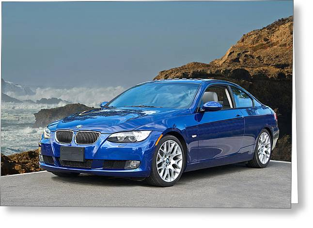 High-performance Luxury Car Greeting Cards - 2013 BMw 328i Sports Coupe Greeting Card by Dave Koontz