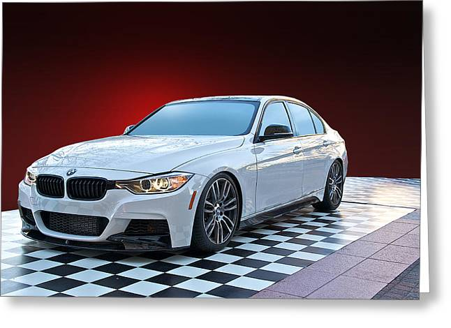 High-performance Luxury Car Greeting Cards - 2013 BMW 5 Series Sedan Greeting Card by Dave Koontz