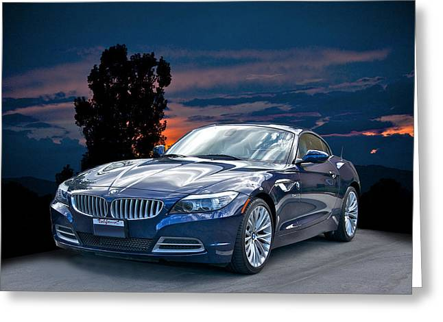 High-performance Luxury Car Greeting Cards - 2013 Bmw Z4 Greeting Card by Dave Koontz