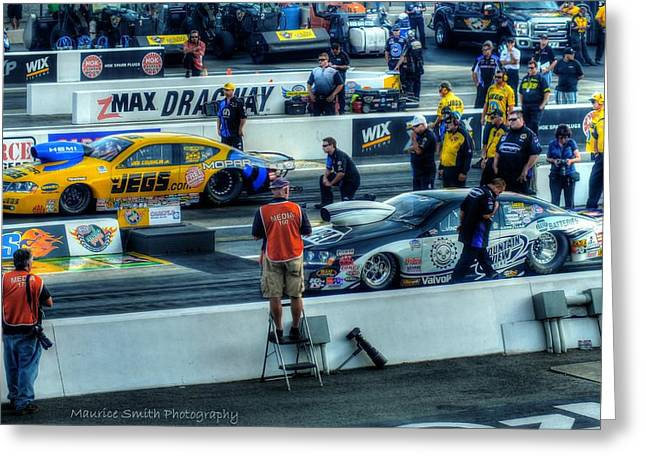 Recently Sold -  - Concord Greeting Cards - 2013 Carlyle Tools NHRA Carolina Nationals #2 Greeting Card by Maurice Smith