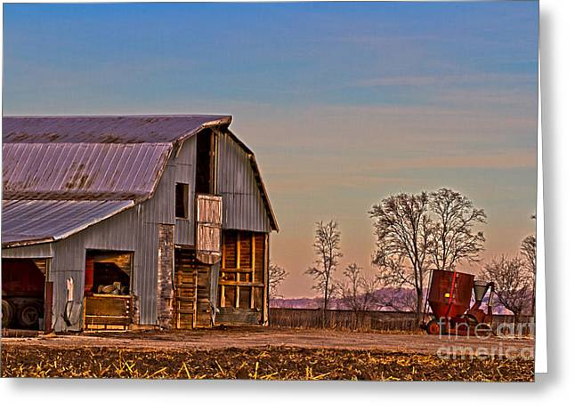 Barn Yard Greeting Cards - 2013 Dec Old Barn Orick Missouri No 1 Greeting Card by Rick Grisolano Photography LLC