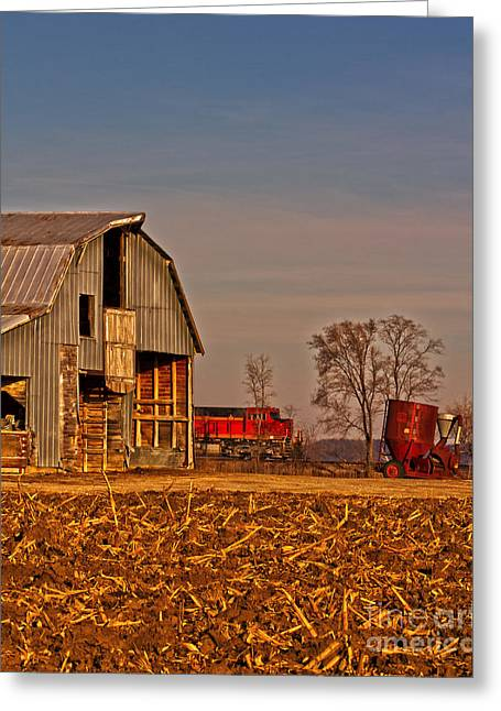Barn Yard Greeting Cards - 2013 Dec Old Barn Orick Missouri No 2 Greeting Card by Rick Grisolano Photography LLC
