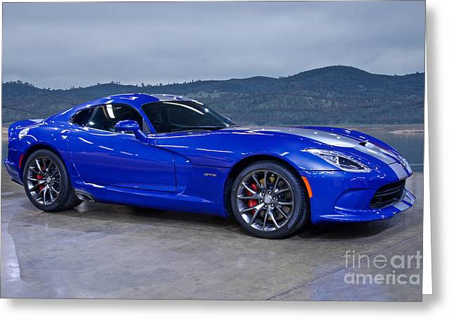 Recently Sold -  - Rally Greeting Cards - 2013 Dodge Viper GTS Greeting Card by Dave Koontz