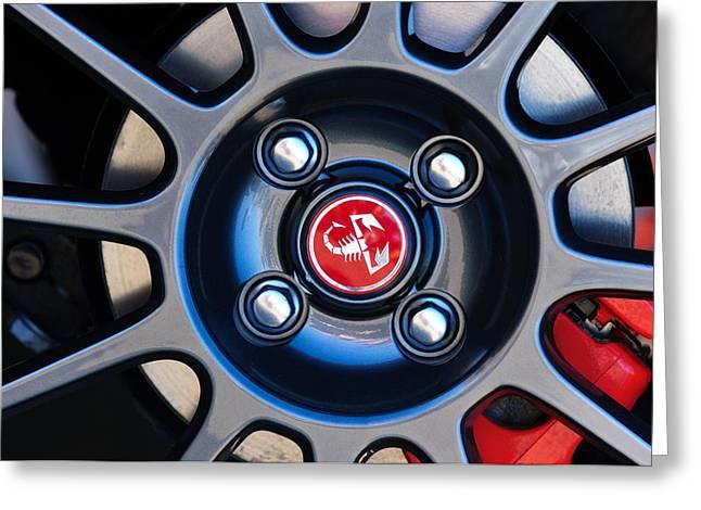 2013 Greeting Cards - 2013 Fiat Abarth Wheel Emblem Greeting Card by Jill Reger