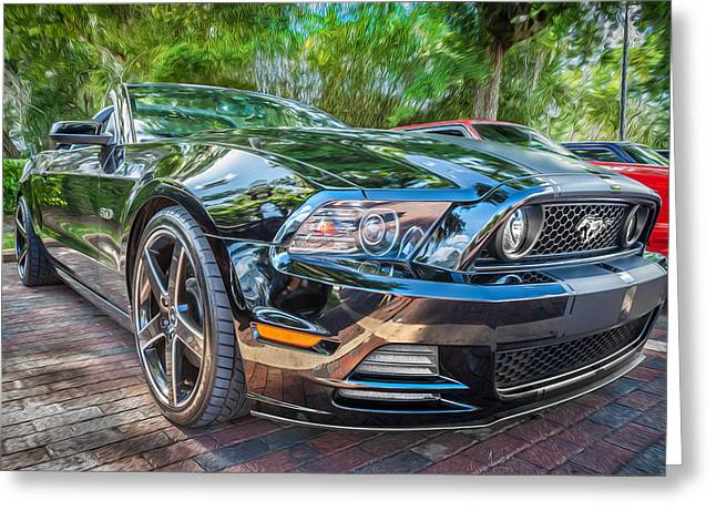 420 Greeting Cards - 2013 Ford Shelby Mustang GT 5.0 Convertible Painted   Greeting Card by Rich Franco