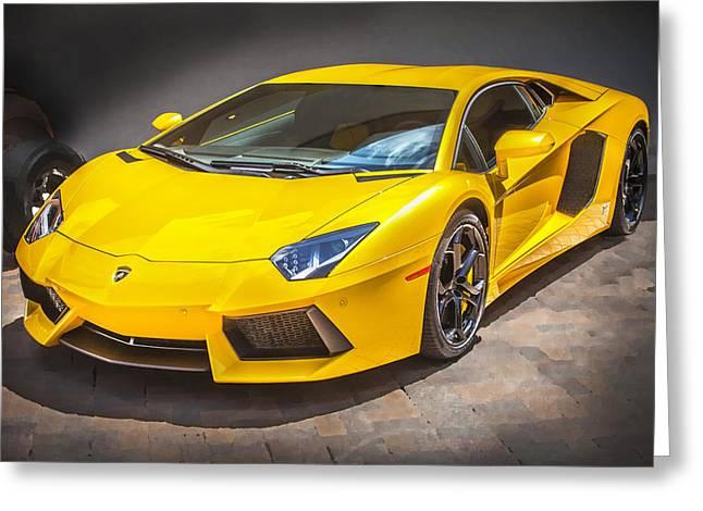 Import Cars Greeting Cards - 2013 Lamborghini Adventador LP 700 4 Greeting Card by Rich Franco