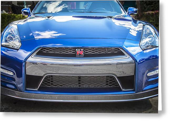 Import Cars Greeting Cards - 2013 Nissan GT R Greeting Card by Rich Franco