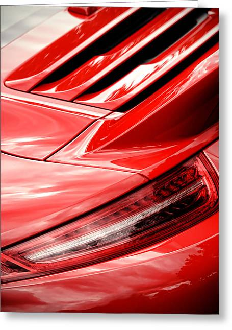Reverse Art Greeting Cards - 2013 Porsche Carrera S Greeting Card by Gordon Dean II