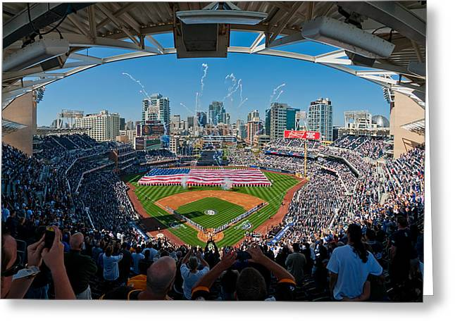 2013 San Diego Padres Home Opener Greeting Card by Mark Whitt