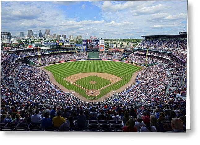 Ballfield Greeting Cards - 2013 Turner Field Greeting Card by Mark Whitt
