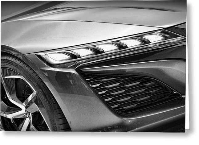 Naias Digital Greeting Cards - 2014 Acura NSX Concept Vehicle Greeting Card by Gordon Dean II