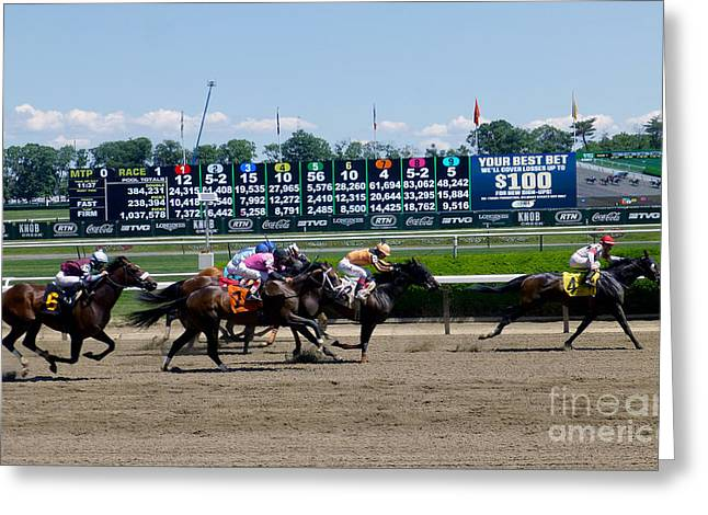 Belmont Stakes Greeting Cards - 2014 Belmont Park Greeting Card by Steven Spak