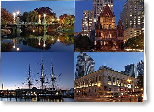 Boston Ma Greeting Cards - 2014 Best of Boston Landmark Photography Greeting Card by Juergen Roth