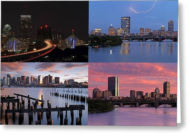 Boston Pictures Greeting Cards - 2014 Best of Boston Skyline Photography Greeting Card by Juergen Roth
