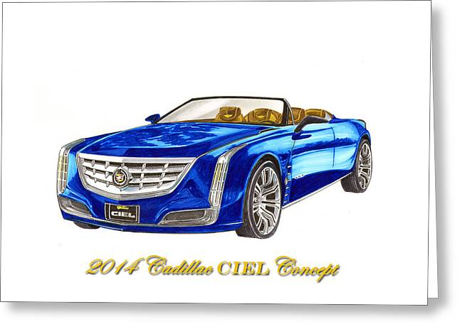 Ciel Greeting Cards - 2014 Cadillac CIEL Concept Greeting Card by Jack Pumphrey