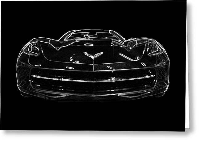 2014 Chevy Corvette Stingray Covertible Greeting Card by Patsy Zedar