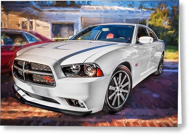 2014 Dodge Charger Rt Painted  Greeting Card by Rich Franco