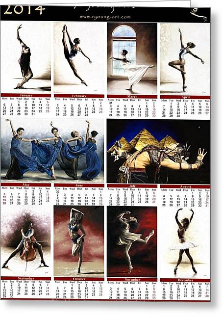 New Year Greeting Cards - 2014 Fine Art Calendar Greeting Card by Richard Young