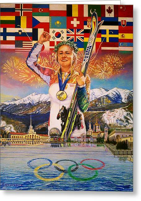 2014 Sochi Winter Olympics Greeting Card by Sean OConnor
