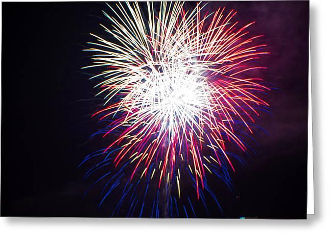 2014 Three Rivers Festival Fireworks Fairmont Wv 10 Greeting Card by Howard Tenke