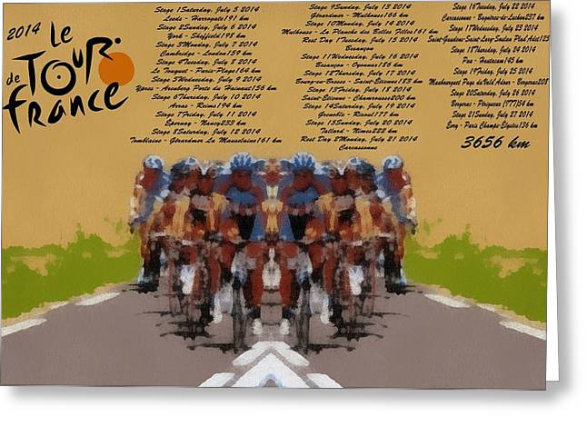 2014 Tour De France Greeting Card by Dan Sproul