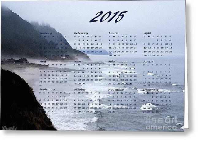 Sand Art Greeting Cards - 2015 Calendar  Coastal Fog  Greeting Card by Sharon Elliott