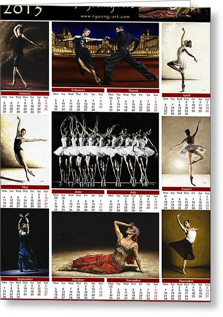 2015 Fine Art Calendar Greeting Card by Richard Young