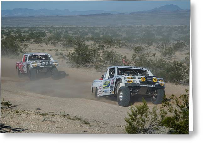Rally Greeting Cards - 2015 Parker 425 099 Greeting Card by Alan Marlowe