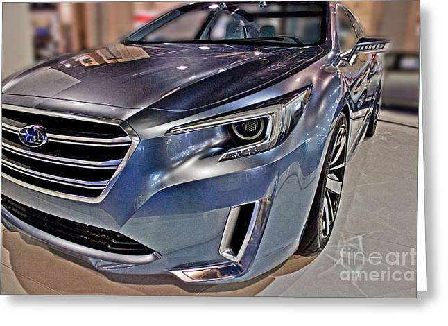 Industrial Background Greeting Cards - 2015 Subaru Concept Legacy Greeting Card by Tom Gari Gallery-Three-Photography