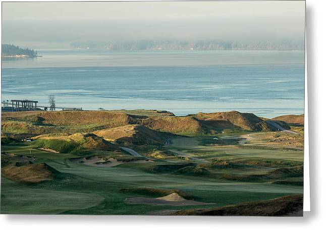 Us Open Photographs Greeting Cards - 2015 U.S. Open - Chambers Bay I Greeting Card by E Faithe Lester